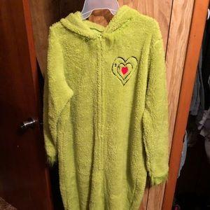 Grinch fleece onesie